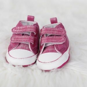 Pink Toddler Velcro Converse Sneakers